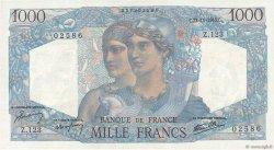1000 Francs MINERVE ET HERCULE FRANCE  1945 F.41.08 pr.NEUF