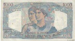 1000 Francs MINERVE ET HERCULE FRANCE  1946 F.41.14 TB