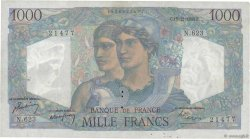 1000 Francs MINERVE ET HERCULE FRANCE  1949 F.41.30 TTB