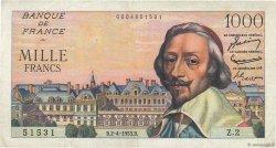 1000 Francs RICHELIEU FRANCE  1953 F.42.01 TB+
