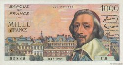 1000 Francs RICHELIEU FRANCE  1953 F.42.02 TTB