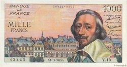 1000 Francs RICHELIEU FRANCE  1953 F.42.03 TTB+
