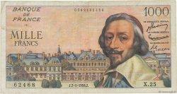 1000 Francs RICHELIEU FRANCE  1953 F.42.03 TB