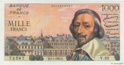 1000 Francs RICHELIEU FRANCE  1954 F.42.04 SPL