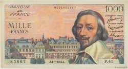 1000 Francs RICHELIEU  FRANCE  1954 F.42.06 TTB+