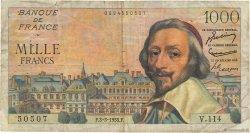1000 Francs RICHELIEU FRANCE  1955 F.42.11 B