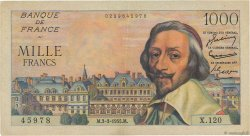 1000 Francs RICHELIEU FRANCE  1955 F.42.11 TTB