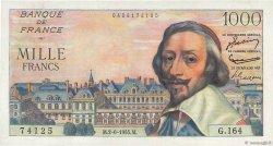 1000 Francs RICHELIEU FRANCE  1955 F.42.14 SUP+