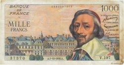 1000 Francs RICHELIEU FRANCE  1955 F.42.17 TB