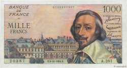 1000 Francs RICHELIEU FRANCE  1956 F.42.22 pr.SPL