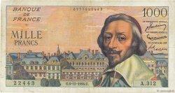 1000 Francs RICHELIEU FRANCE  1956 F.42.24 TB