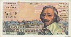 1000 Francs RICHELIEU FRANCE  1956 F.42.24 TTB