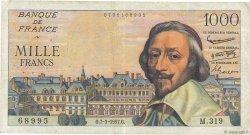 1000 Francs RICHELIEU FRANCE  1957 F.42.25 TB