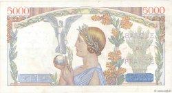 5000 Francs VICTOIRE Impression à plat FRANCE  1939 F.46.04 TTB