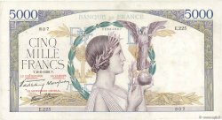 5000 Francs VICTOIRE Impression à plat FRANCE  1939 F.46.07 TB+