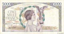 5000 Francs VICTOIRE Impression à plat FRANCE  1939 F.46.11 TB+