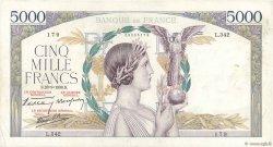5000 Francs VICTOIRE Impression à plat FRANCE  1939 F.46.12 TB+