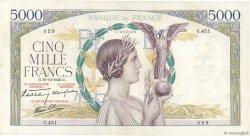 5000 Francs VICTOIRE Impression à plat FRANCE  1940 F.46.17 TTB