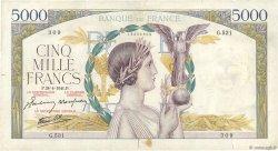 5000 Francs VICTOIRE Impression à plat FRANCE  1941 F.46.20 TB