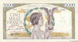 5000 Francs VICTOIRE Impression à plat FRANCE  1941 F.46.20 pr.SUP