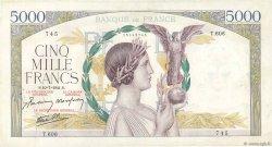 5000 Francs VICTOIRE Impression à plat FRANCE  1941 F.46.23 pr.TTB