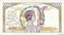 5000 Francs VICTOIRE Impression à plat FRANCE  1942 F.46.34 TTB