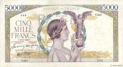 5000 Francs VICTOIRE Impression à plat FRANCE  1942 F.46.35 pr.TTB
