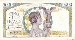 5000 Francs VICTOIRE Impression à plat FRANCE  1942 F.46.36 TTB+