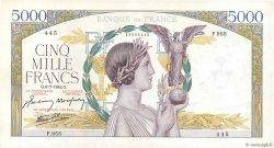 5000 Francs VICTOIRE Impression à plat FRANCE  1942 F.46.38 pr.SPL