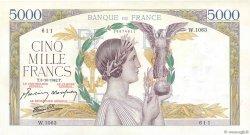 5000 Francs VICTOIRE Impression à plat FRANCE  1942 F.46.42 SPL