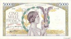 5000 Francs VICTOIRE Impression à plat FRANCE  1942 F.46.45 SUP