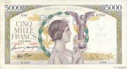 5000 Francs VICTOIRE Impression à plat FRANCE  1943 F.46.49 TTB