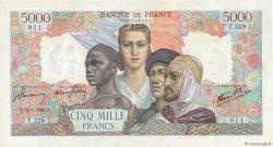 5000 Francs EMPIRE FRANÇAIS FRANCE  1945 F.47.10 TTB+