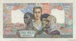 5000 Francs EMPIRE FRANÇAIS FRANCE  1945 F.47.19 TB