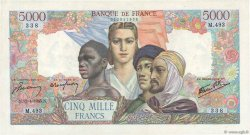 5000 Francs EMPIRE FRANÇAIS FRANCE  1945 F.47.21 TTB