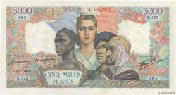 5000 Francs EMPIRE FRANÇAIS FRANCE  1945 F.47.24 SUP
