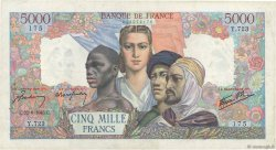 5000 Francs EMPIRE FRANÇAIS FRANCE  1945 F.47.31 TTB
