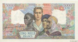 5000 Francs EMPIRE FRANÇAIS FRANCE  1945 F.47.33 SPL