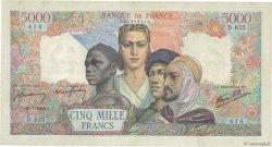 5000 Francs EMPIRE FRANÇAIS FRANCE  1945 F.47.36 TB