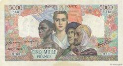 5000 Francs EMPIRE FRANÇAIS FRANCE  1945 F.47.41 TTB