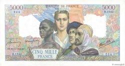 5000 Francs EMPIRE FRANÇAIS FRANCE  1945 F.47.47 TTB