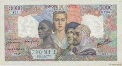 5000 Francs EMPIRE FRANÇAIS FRANCE  1947 F.47.57 TB+