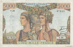 5000 Francs TERRE ET MER FRANCE  1951 F.48.03 pr.TTB