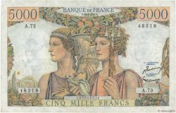 5000 Francs TERRE ET MER FRANCE  1951 F.48.05 TTB