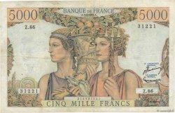 5000 Francs TERRE ET MER FRANCE  1952 F.48.06 TB