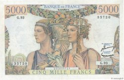 5000 Francs TERRE ET MER FRANCE  1952 F.48.06 SUP