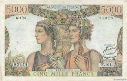 5000 Francs TERRE ET MER FRANCE  1952 F.48.07 TTB