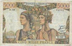 5000 Francs TERRE ET MER FRANCE  1953 F.48.08 TB