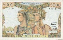 5000 Francs TERRE ET MER FRANCE  1957 F.48.14 TB