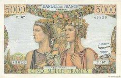 5000 Francs TERRE ET MER FRANCE  1957 F.48.15 TTB+